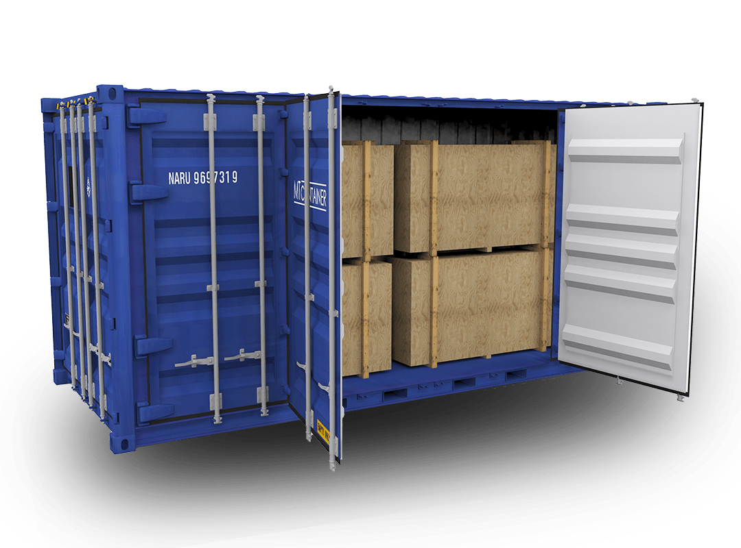 Open-Side-Door-Container